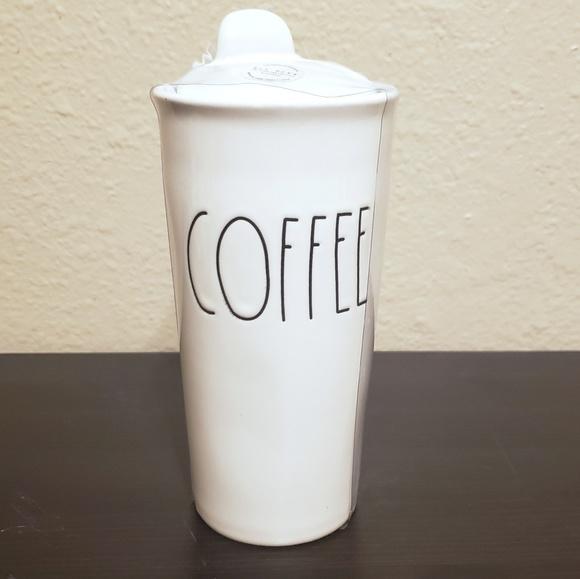 Rae Dunn Other - Rae Dunn COFFEE Ceramic Travel Mug with Lid